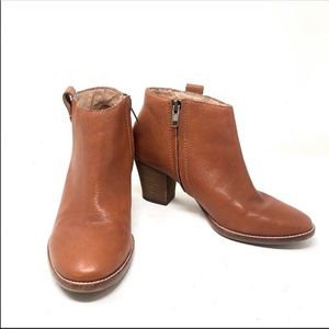 Madewell Billy Leather brown ankle Boots 6.5